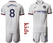 Wholesale Cheap Chelsea #8 Barkley Away Kid Soccer Club Jersey