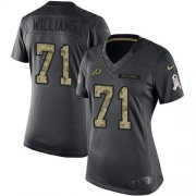 Wholesale Cheap Nike Redskins #71 Trent Williams Black Women's Stitched NFL Limited 2016 Salute to Service Jersey