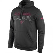 Wholesale Cheap Atlanta Falcons Nike Breast Cancer Awareness KO Pullover Performance Hoodie Charcoal