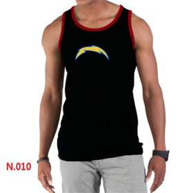 Wholesale Cheap Men\'s Nike NFL Los Angeles Chargers Sideline Legend Authentic Logo Tank Top Black