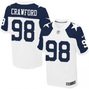 Wholesale Cheap Nike Cowboys #98 Tyrone Crawford White Thanksgiving Throwback Men's Stitched NFL Elite Jersey