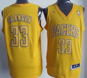 Wholesale Cheap Indiana Pacers #33 Danny Granger Revolution 30 Swingman Yellow Big Color Jersey
