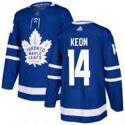 Wholesale Cheap Adidas Maple Leafs #14 Dave Keon Blue Home Authentic Stitched NHL Jersey