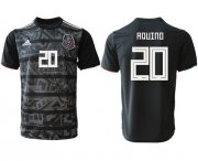 Wholesale Cheap Mexico #20 Aquino Black Soccer Country Jersey