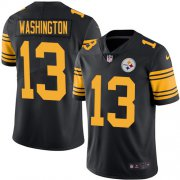 Wholesale Cheap Nike Steelers #13 James Washington Black Men's Stitched NFL Limited Rush Jersey