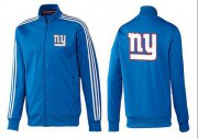 Wholesale Cheap NFL New York Giants Team Logo Jacket Blue_3
