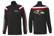 Wholesale Cheap NFL Baltimore Ravens Team Logo Jacket Black_2