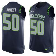 Wholesale Cheap Nike Seahawks #50 K.J. Wright Steel Blue Team Color Men's Stitched NFL Limited Tank Top Jersey