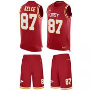 Wholesale Cheap Nike Chiefs #87 Travis Kelce Red Team Color Men's Stitched NFL Limited Tank Top Suit Jersey