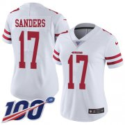 Wholesale Cheap Nike 49ers #17 Emmanuel Sanders White Women's Stitched NFL 100th Season Vapor Limited Jersey