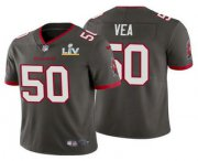 Wholesale Cheap Men's Tampa Bay Buccaneers #50 Vita Vea Grey 2021 Super Bowl LV Limited Stitched NFL Jersey