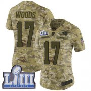Wholesale Cheap Nike Rams #17 Robert Woods Camo Super Bowl LIII Bound Women's Stitched NFL Limited 2018 Salute to Service Jersey