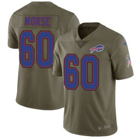 Wholesale Cheap Nike Bills #60 Mitch Morse Olive Men\'s Stitched NFL Limited 2017 Salute To Service Jersey