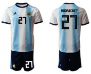 Wholesale Cheap Argentina #27 Rodriguez Home Soccer Country Jersey