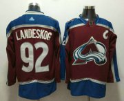 Wholesale Cheap Men's Colorado Avalanche #92 Gabriel Landeskog Red With C Patch 2017-2018 Hockey Stitched NHL Jersey