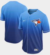 Wholesale Cheap Nike Blue Jays Blank Royal Fade Authentic Stitched MLB Jersey
