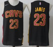 Wholesale Cheap Men's Cleveland Cavaliers #23 LeBron James Black 2017-2018 Nike Swingman Stitched NBA Jersey