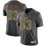 Wholesale Cheap Nike Steelers #53 Maurkice Pouncey Gray Static Youth Stitched NFL Vapor Untouchable Limited Jersey
