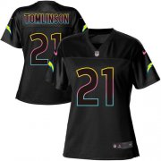 Wholesale Cheap Nike Chargers #21 LaDainian Tomlinson Black Women's NFL Fashion Game Jersey