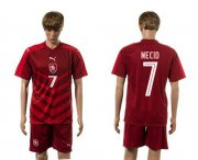 Wholesale Cheap Czech #7 Necid Red Home Soccer Country Jersey