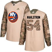 Wholesale Cheap Adidas Islanders #54 Oliver Wahlstrom Camo Authentic 2017 Veterans Day Stitched NHL Jersey