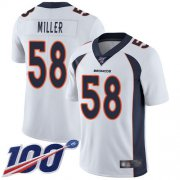 Wholesale Cheap Nike Broncos #58 Von Miller White Youth Stitched NFL 100th Season Vapor Limited Jersey