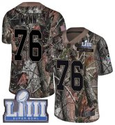 Wholesale Cheap Nike Patriots #76 Isaiah Wynn Camo Super Bowl LIII Bound Youth Stitched NFL Limited Rush Realtree Jersey