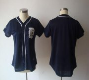 Wholesale Tigers Blank Navy Blue Women's Fashion Stitched Baseball Jersey