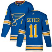 Wholesale Cheap Adidas Blues #11 Brian Sutter Light Blue Alternate Authentic Stitched NHL Jersey