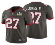 Wholesale Cheap Men's Tampa Bay Buccaneers #27 Ronald Jones II Grey 2021 Super Bowl LV Limited Stitched NFL Jersey