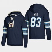 Wholesale Cheap Winnipeg Jets #83 Sami Niku Blue adidas Lace-Up Pullover Hoodie