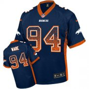 Wholesale Cheap Nike Broncos #94 DeMarcus Ware Navy Blue Alternate Men's Stitched NFL Elite Drift Fashion Jersey