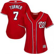 Wholesale Cheap Nationals #7 Trea Turner Red Alternate Women's Stitched MLB Jersey