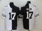 Wholesale Cheap Men's Buffalo Bills #17 Josh Allen White Black Peaceful Coexisting 2020 Vapor Untouchable Stitched NFL Nike Limited Jersey