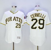 Wholesale Cheap Pirates #29 Francisco Cervelli White Flexbase Authentic Collection Stitched MLB Jersey
