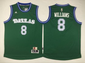 Wholesale Cheap Men\'s Dallas Mavericks #8 Deron Williams Revolution 30 Swingman 2015-16 Green Jersey