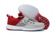 Wholesale Cheap Air Jordan Trainer 2 Flyknit Shoes Red/Gray-White