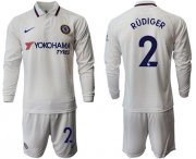 Wholesale Cheap Chelsea #2 Rudiger Away Long Sleeves Soccer Club Jersey