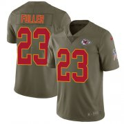 Wholesale Cheap Nike Chiefs #23 Kendall Fuller Olive Men's Stitched NFL Limited 2017 Salute to Service Jersey