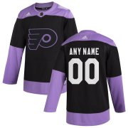 Wholesale Cheap Philadelphia Flyers Adidas Hockey Fights Cancer Custom Practice Jersey Black