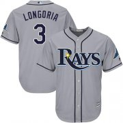 Wholesale Cheap Rays #3 Evan Longoria Grey Cool Base Stitched Youth MLB Jersey