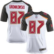 Wholesale Cheap Nike Buccaneers #87 Rob Gronkowski White Men's Stitched NFL New Elite Jersey