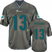 Wholesale Cheap Nike Dolphins #13 Dan Marino Grey Youth Stitched NFL Elite Vapor Jersey