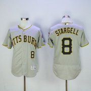 Wholesale Pirates #8 Willie Stargell Grey Flexbase Authentic Collection Stitched Baseball Jersey