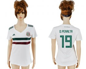 Wholesale Cheap Women\'s Mexico #19 O.Peralta Away Soccer Country Jersey