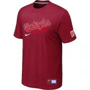 Wholesale Cheap MLB Washington Nationals Red Nike Short Sleeve Practice T-Shirt