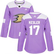 Wholesale Cheap Adidas Ducks #17 Ryan Kesler Purple Authentic Fights Cancer Women's Stitched NHL Jersey
