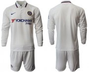Wholesale Cheap Chelsea Blank Away Long Sleeves Soccer Club Jersey