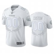 Wholesale Cheap San Francisco 49ers Custom Men's Nike Platinum NFL MVP Limited Edition Jersey
