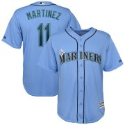 Wholesale Cheap Seattle Mariners #11 Edgar Martinez Majestic Official Cool Base Player Jersey Blue